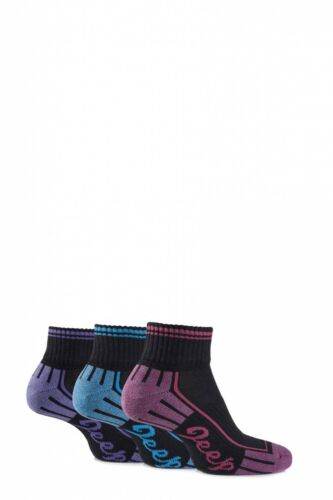 Ladies 3 Pair Jeep Cushioned Cotton Ankle Socks
