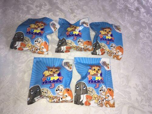 5 x Chiot Amis 3 Scellé Blind Bags figures