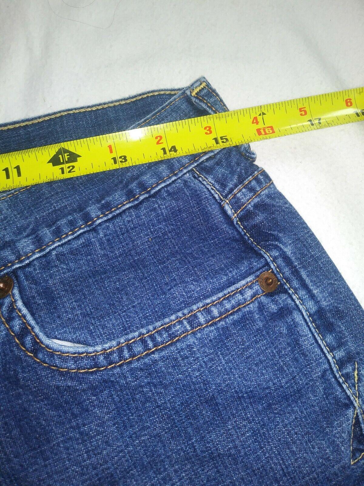 Women's Lucky Brand Dungarees Y2K Wide Leg Denim … - image 10