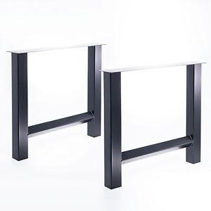 tischgestell set h gestell tisch esstisch b ro schreibtisch m bel stahl holz ebay. Black Bedroom Furniture Sets. Home Design Ideas