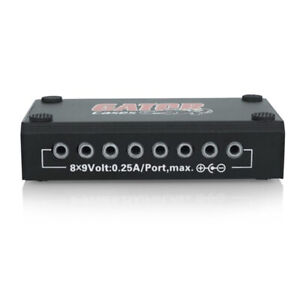 Details about Gator Cases G-BUS-8-US Guitar Effects Pedalboard Power Supply  1500mA 11 Outputs