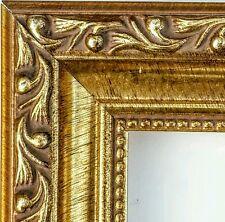 ☆SALE☆ 36 ft - Ornate Gold Picture Frame Moulding, Antique, WOOD, Beaded