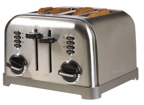 Cuisinart  Semi-Gloss  Silver  Toaster  7.4 in L H x 10.67 in W x 11.14 in