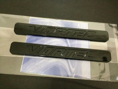 2x OEM Gloss Black VORTEC EMBLEMS BADGES SILVERADO 3D TRUCK