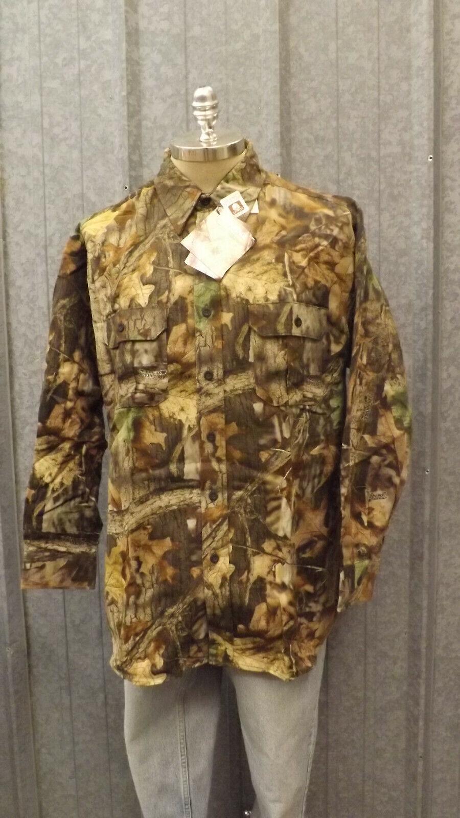 Vtg NEW Walls Realtree Timber Advantage Camo Shirt Whisper Soft Cotton sz 2XL