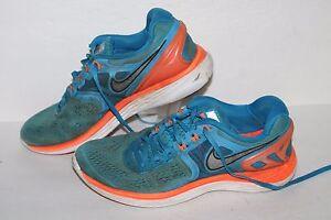 Details about Nike Lunareclipse 4 Running Shoes, #629682 40, BlueOrangeWhite, Men's US 7.5