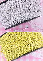 1.5m GOLD or SILVER Shining Beads Plastic String Garland Cake Spray Weddings