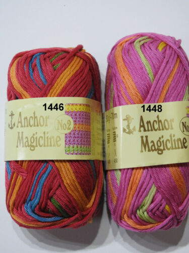 50g Knäuel 5,00€//100g *Anchor Magicline No2* Coats Topflappengarn