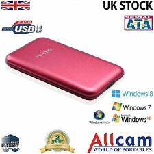 "Allcam USB 2.0 Portable External Hard Drive Enclosure for 2.5"" Laptop SATA Red"