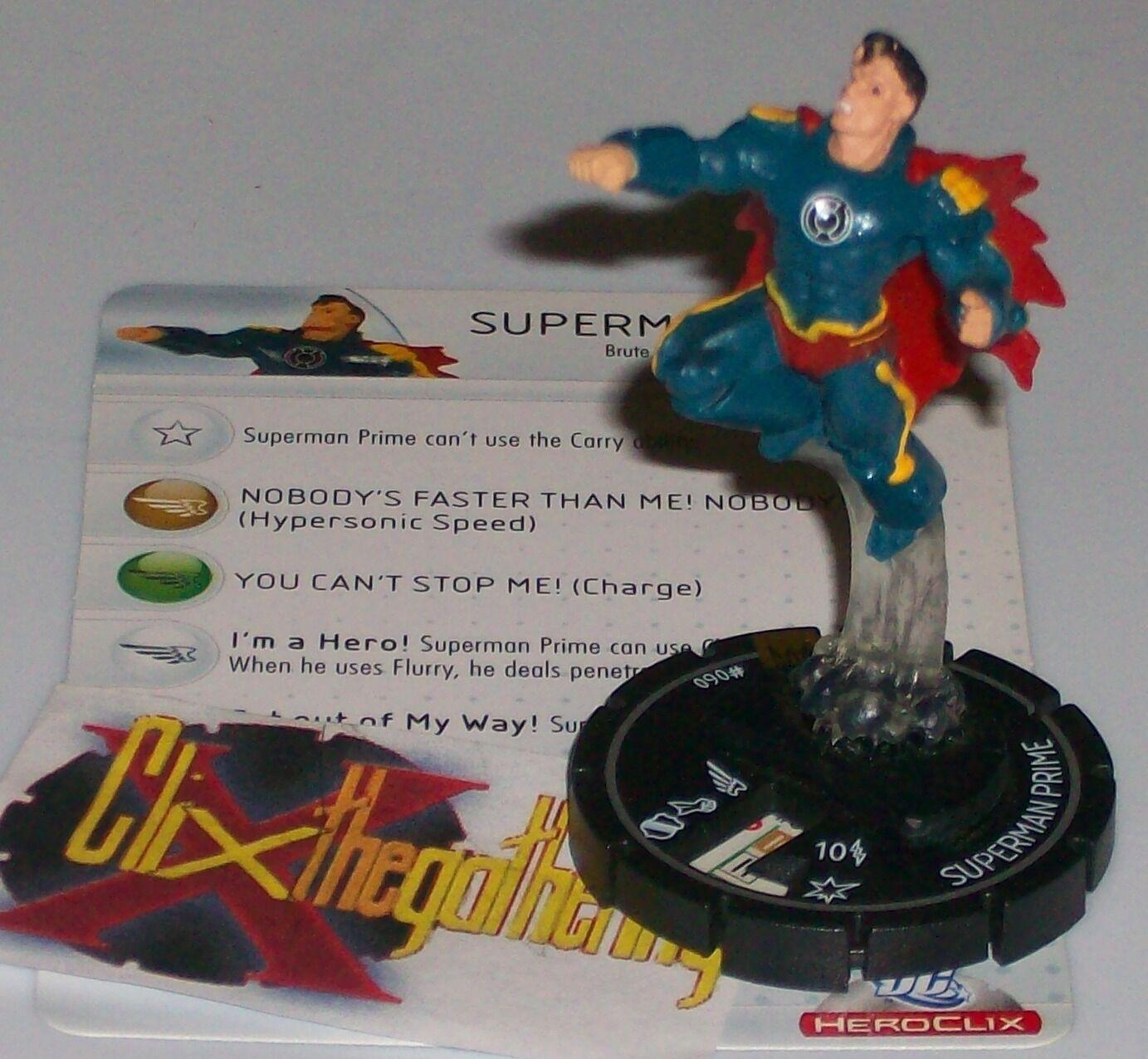 SUPERMAN PRIME DC HeroClix Arkham Asylum Super Rare