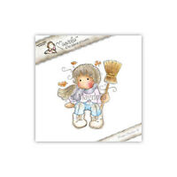 Magnolia Cling Rubber Stamp Autumn Tilda With Broom