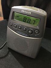 AIWA RADIO RECEIVER ALARM CLOCK RADIO RÉVEIL VINTAGE