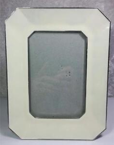 Frame-Photo-Size-4-034-x-6-034-Ivory-Colored-Enamel-n-Metal-Tabletop-Modern
