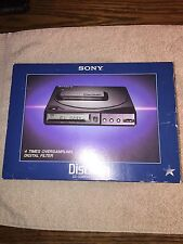 Sony D-25 Portable Discman Complete Set With Box Very Nice Rare