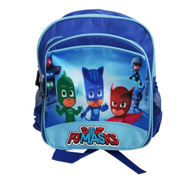BLUE PJ MASKS SUPERHERO GEKKO OWLETTE CATBOY KIDS PRESCHOOL SCHOOL BACKPACK BAG
