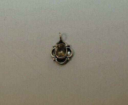 Plata colgante con Citrine oval