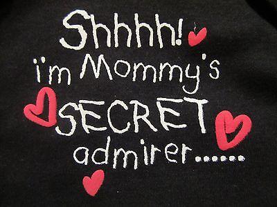 My Baby/'s 1st First Mommy/'s Secret Admirer VALENTINE/'S DAY Onesie NB 3-6 18 Mos