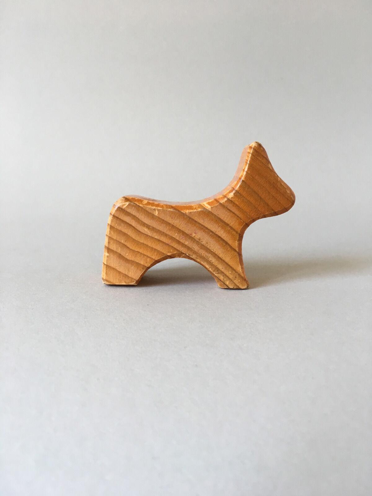 Antonio Vitali wooden Animal Juguete little Dog - Vintage Swiss Design - Very rare