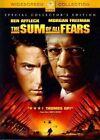 Sum of All Fears 0097363372240 With Morgan Freeman DVD Region 1