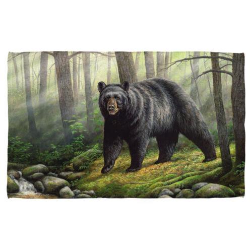Wild Wings Big Black Bear WOODLAND MORNING Lightweight Beach Towel