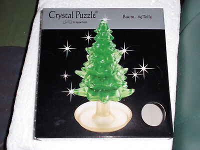 3d Crystal Puzzle - Weihnachtsbaum /tanne Puzzles Kristallpuzzle - 69 Teile