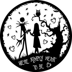 NIGHTMARE BEFORE CHRISTMAS JACK AND SALLY SIMPLY MEANT CAR DECAL ...