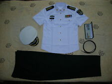 Obsolete 07's China PLA Navy Man Officer Summer Short-sleeved Uniform,Set,F