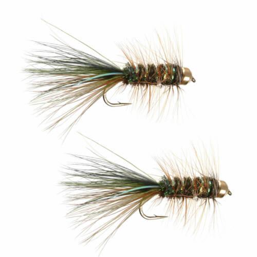 Umpqua Tungsten Thin Mint Streamer 2 Pack Streamer Fly Fishing Flies