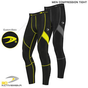 Activewear-COMPRESSION-Men-s-Body-Armour-Compression-Base-Layer-Tights-Sports