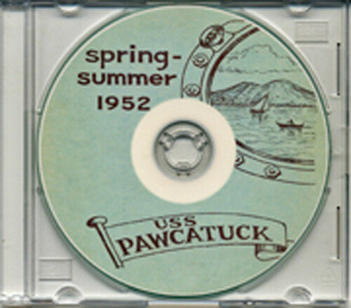 USS Pawcatuck AO 108 1952 Med Cruise Book CD