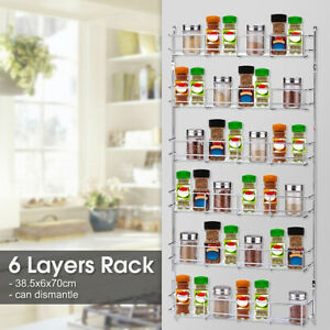 5-Tier-Wall-Mount-Kitchen-Shelf-Pantry-Holder-Door-Spice-Rack-Cabinet-A