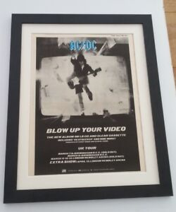AC-DC-Blow-Up-Your-Video-1988-ORIGINAL-POSTER-AD-FRAMED-FAST-WORLD-SHIP