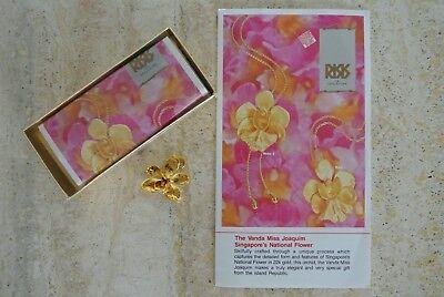 Manufaktur Risis KöStlich Traumhafter Anhänger Vergoldete Orchidee Ungetragen