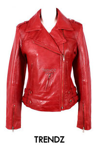 Ladies Leather Jacket Green Designer Fashion Biker Style Real Lambskin 5816