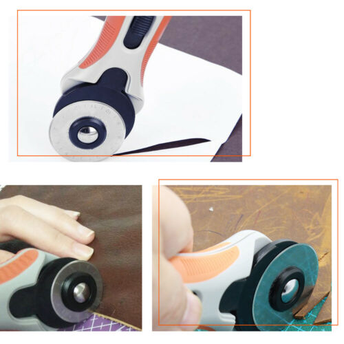 Rotary Cutter with 5pcs 45mm Blades Leather Sewing Quilters Fabric Cutting Tools