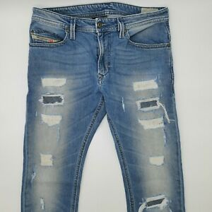 Diesel Thavar Wash 0674Q_Stretch Slim Skinny W31 L32 blau Herren Denim Jeans VTG