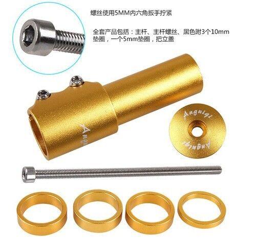 Fit 28.6mm Front fork Stem Raiser For MTB Bicycle Road Bike Raise Handlebar