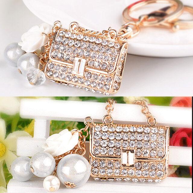 Bling Crystal Handbag Keyring Rhinestone Pendant Keychain Key Chain Bag