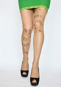 86306e8ae2a2b Image is loading Poison-Ivy-Tattoo-Tights-Poison-Ivy-Costume-Hand-