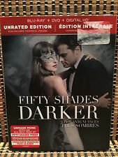 Fifty Shades Darker: Unrated (2-Disc Blu-ray/DVD, 2017)+Slipcover E.L James