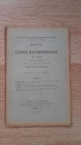 Recueil Mensual - Revista ESCUELA Antropología De París - 1901 - N º 7