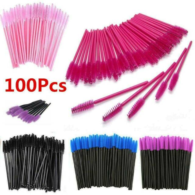 50/100PCS Disposable Mascara Wands Eyelash Brushes Lash Extension Applicator Set
