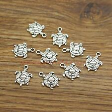 BULK 50 Tortoise charms  antique silver tone FF131