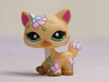 Littlest Pet Shop LPS  #1582 postcard flower ginger orange cat kitty green eyes