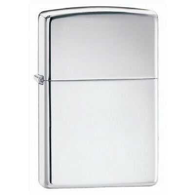 Zippo High Polish Chrome Full Size Lighter, Low Shipping,  250