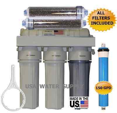 Ro/di Reverse Osmosis Aquarium/reef System 6 Stage 150 Gpd Pet Supplies Fish & Aquariums