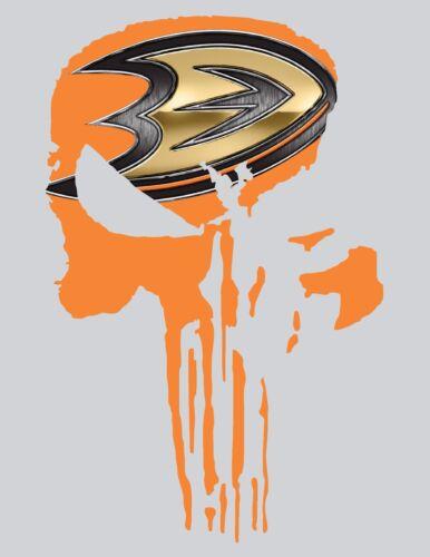 01-13 NEW Punisher Anaheim Ducks Frank Castle Window vinyl sticker decal Marvel