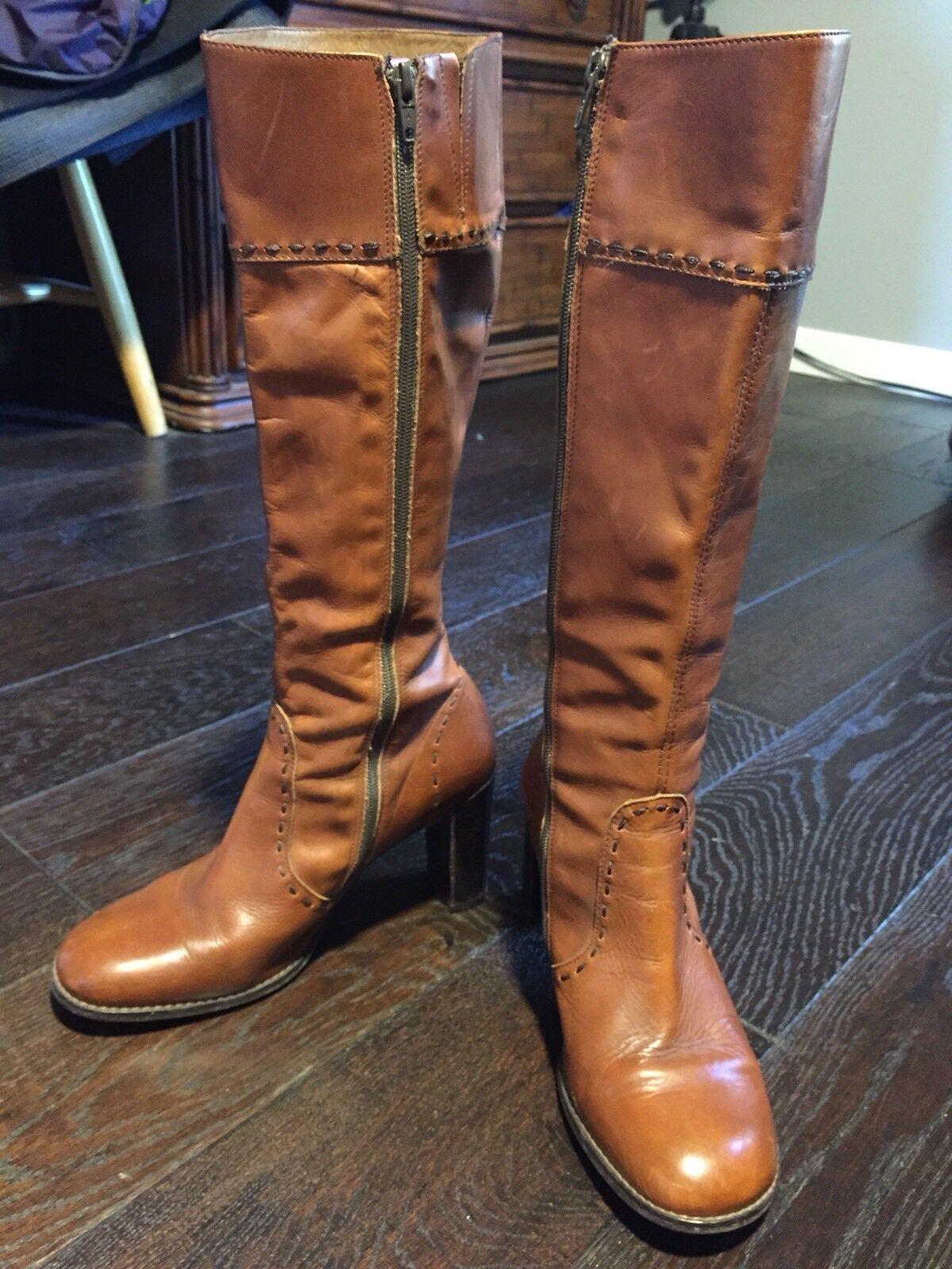 Julia Botella chute cuir Orange brique Couleur pastels bottes 39