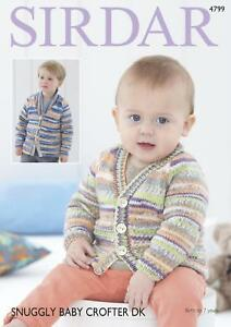 2a5e94d72124 Sirdar 4799 Knitting Pattern Baby Childrens Cardigans in Snuggly ...