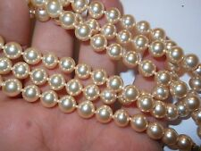 "HOBE Vintage 8mm Genuine Cream Majorca Pearl 32.5"" Necklace hand knoted mint"